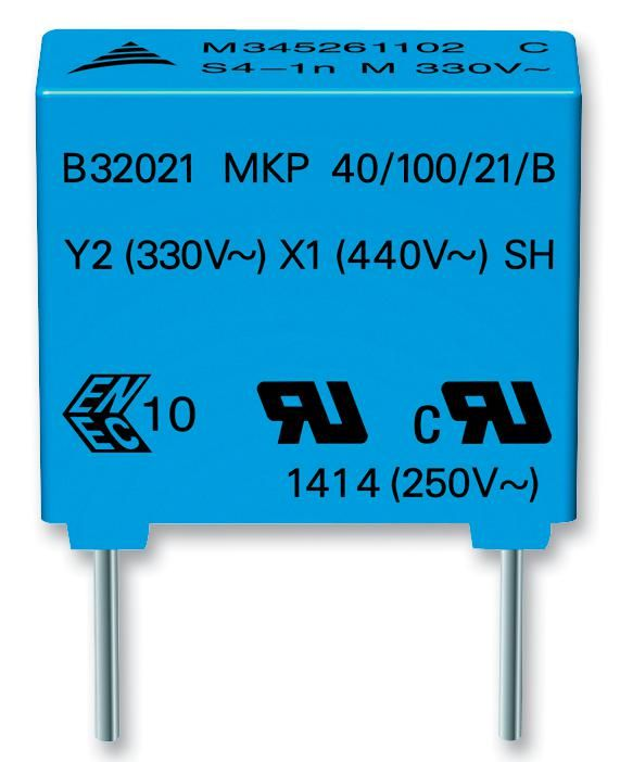 EPCOS B32021A3102M  Capacitor Y2 1Nf 300V