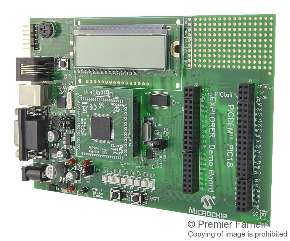MICROCHIP DM183032  Kit Demo Board Picdem Pic18