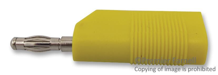 MULTICOMP 25.403.3  4Mm Plug Stackable Yellow