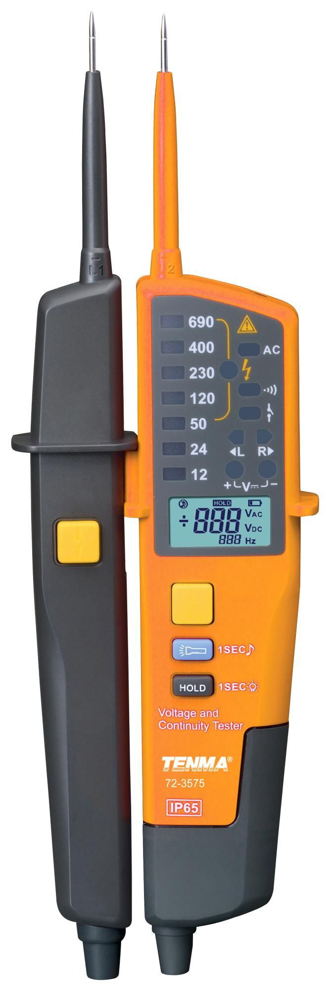 TENMA 72-3575  Voltage Tester Led + Lcd