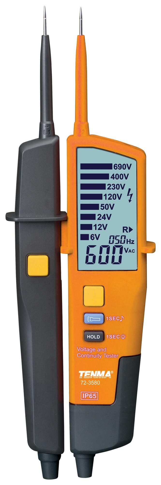 TENMA 72-3580  Voltage Tester Large Lcd