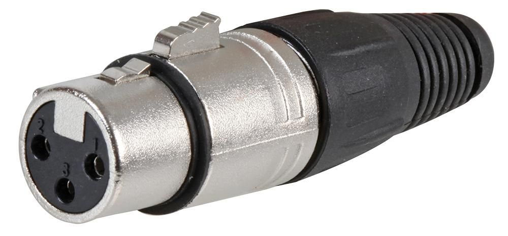 CLIFF ELECTRONIC COMPONENTS FC6140  Connector 3P Xlr Socket 3Apf/M