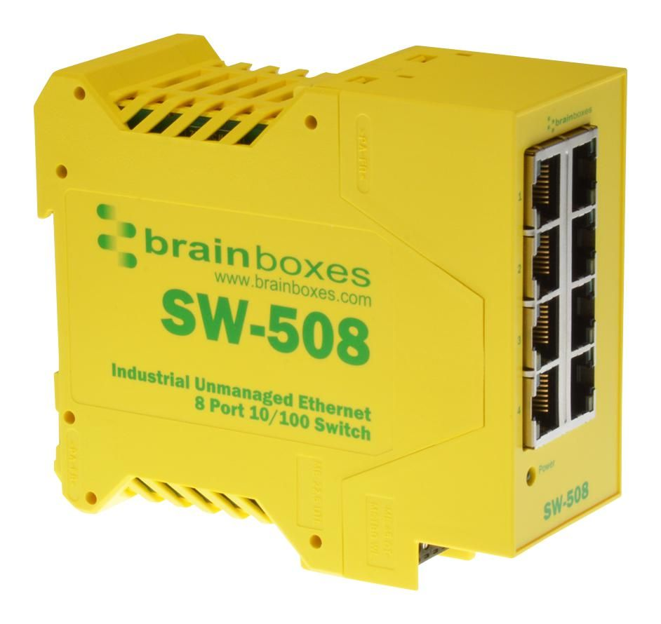 BRAINBOXES SW-508  Ethernet Switch Industrial 8 Port