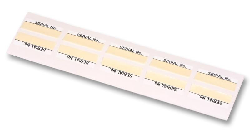TE CONNECTIVITY 18001  Partially Laminated Labels Serial No