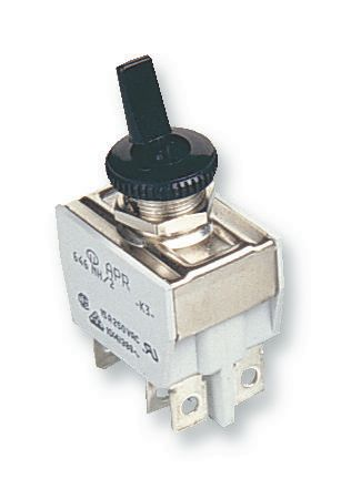 APEM 641NH/2  10A Toggle (Plastic) Dpst On-Off