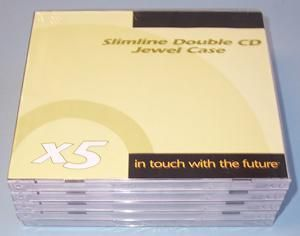 UNBRANDED SLD005  Double Cd Cases - 5 Pack