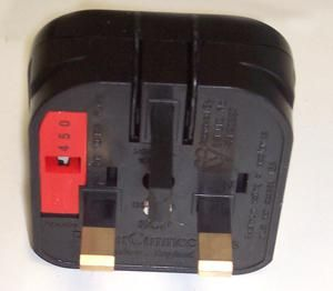 POWERCONNECTIONS SCP.BLACK.10A  Schuko To Uk Plug Black/10A