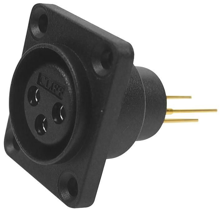 CLIFF ELECTRONIC COMPONENTS CP30071  Socket,Xlr,Panel,Airtight,3 Pole,Pcb