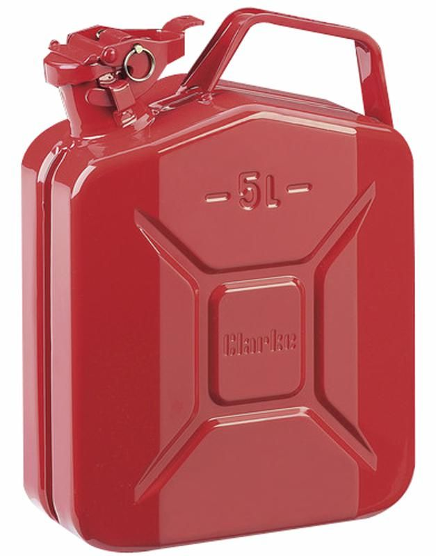 CLARKE INTERNATIONAL 7650015  Jerry Can 5 Litre Red