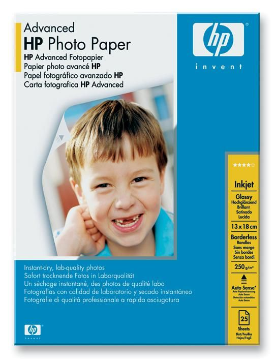 HEWLETT PACKARD Q8696A  Paper 13X18Cm 25 Sheets Hp