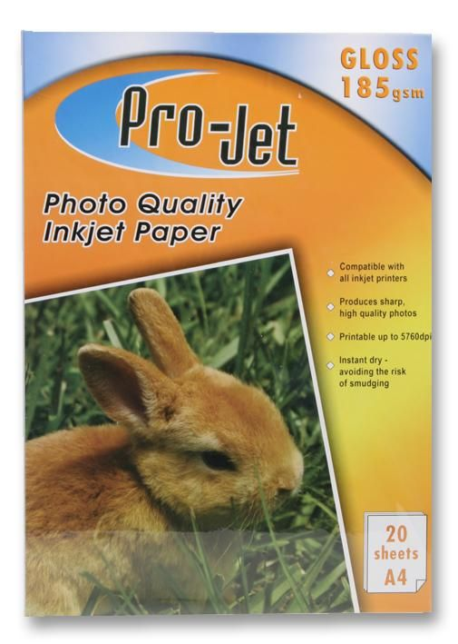 PROJET PROJET G18520  Paper Photo A4 Gloss 185G X20
