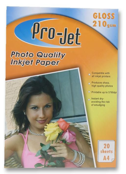 PROJET PROJET G21020  Paper Photo A4 Gloss 210G X20