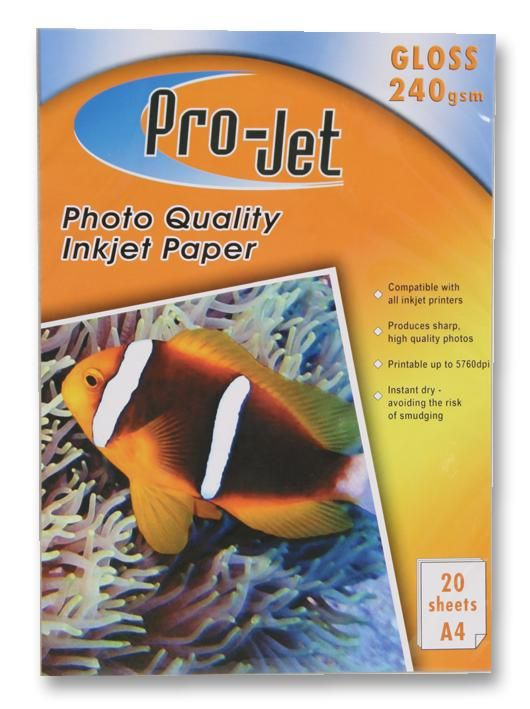PROJET PROJET G24020  Paper Photo A4 Gloss 240G X20