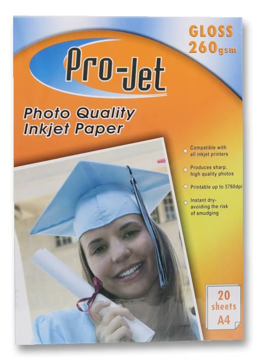 PROJET PROJET G26020  Paper Photo A4 Gloss 260G X20