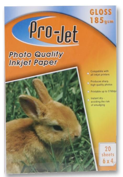 PROJET PROJET G1856420  Paper Photo 6X4 Gloss 185G X20