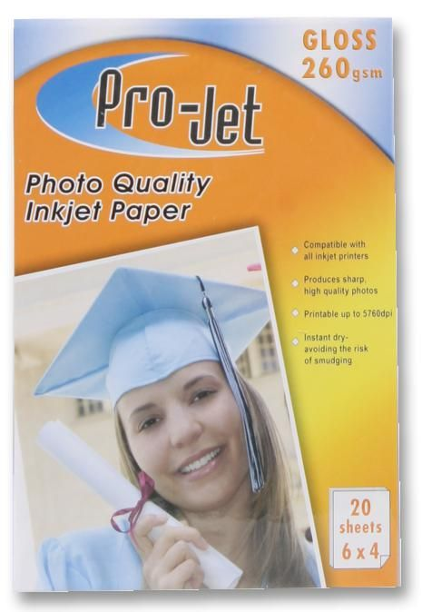 PROJET PROJET G2606420  Paper Photo 6X4 Gloss 260G X20