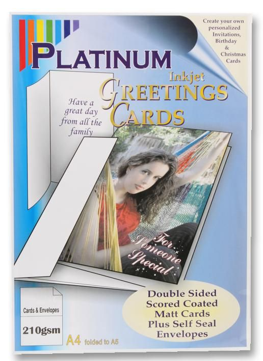 PLATINUM PLATINUM GC10  Paper Greeting Card/Envelope X10