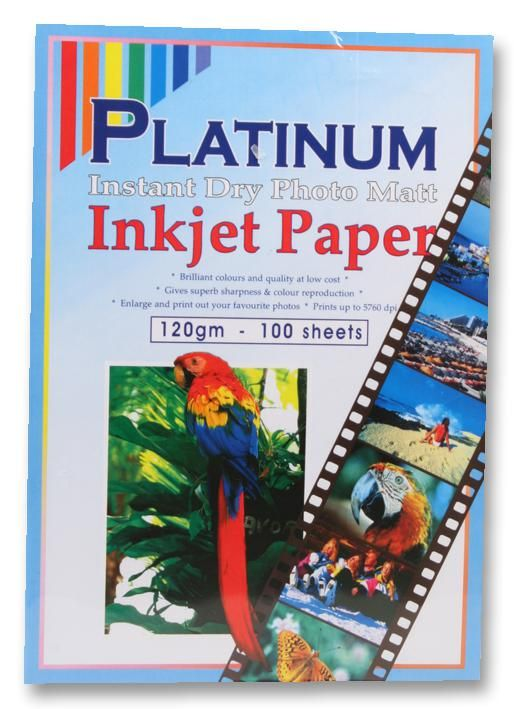 PLATINUM PLATINUM M120100  Paper Photo A4 Matt 120G X100