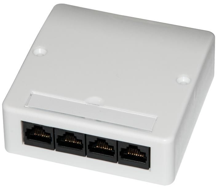 CONNECTIX CABLING SYSTEMS 008-001-011-01  Wall Outlet 4 Way Cat5E,Vertical