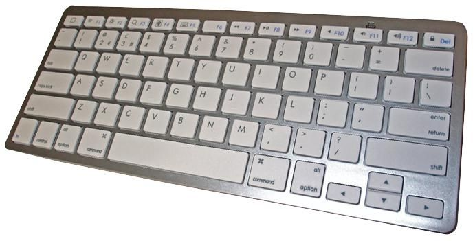 LMS DATA KBD-BT-S  Keyboard Bluetooth Silv/White