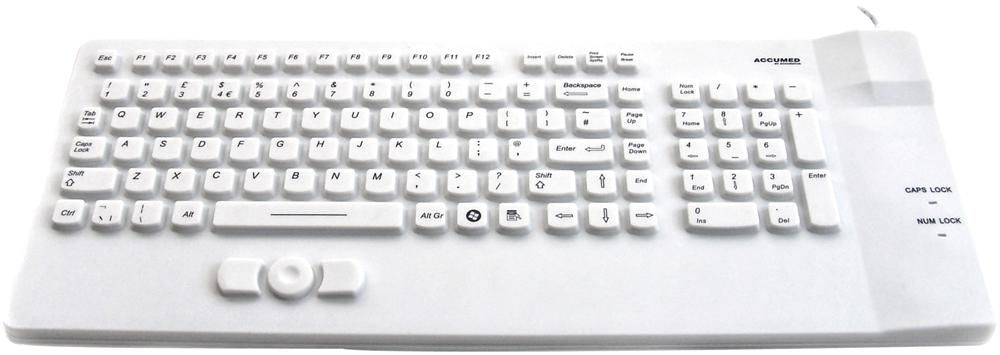 ACCURATUS KYBNA-SIL-COMCWH  Accumed Compact Usb Ip67 Keyboard
