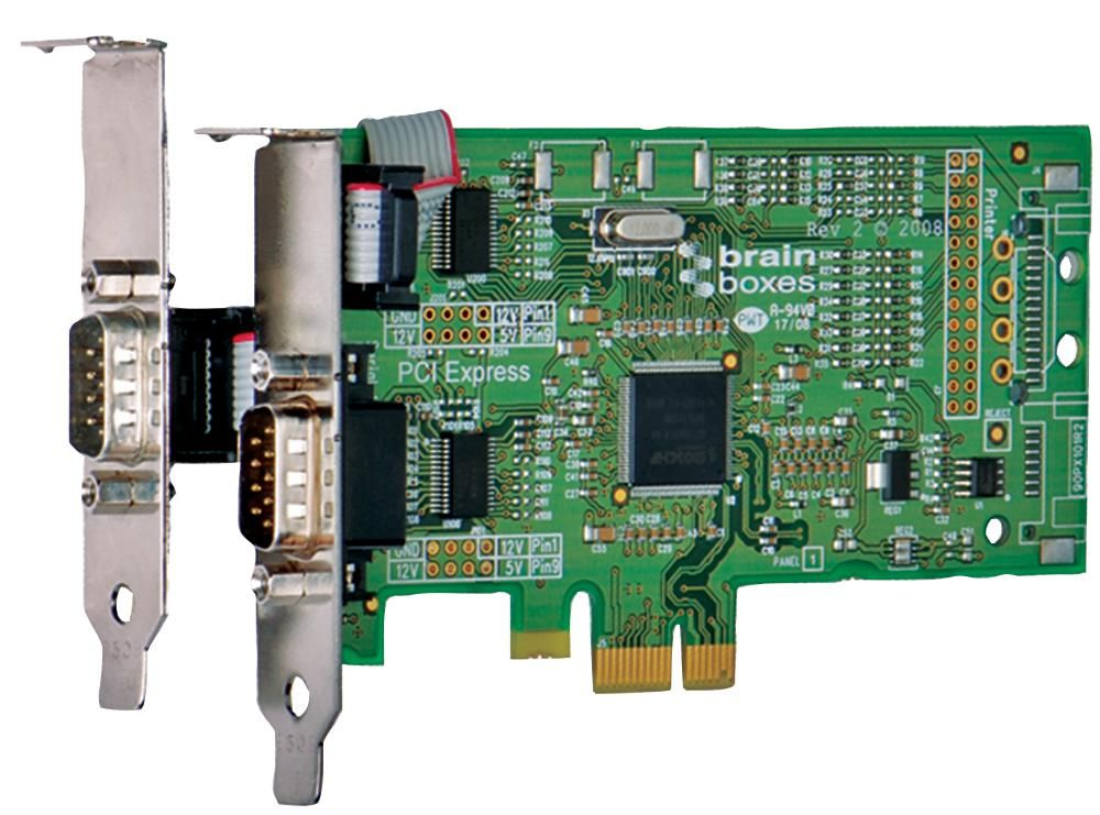 BRAINBOXES PX-101  2Port Rs232 Low Profile Pcie Serial Card