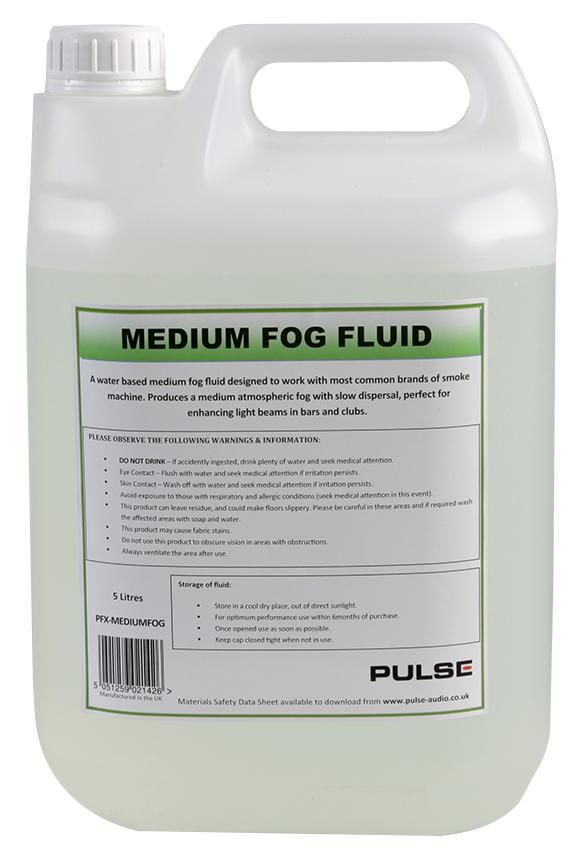 PULSE PFX-MEDIUMFOG  Fog Fluid Medium 5Ltr