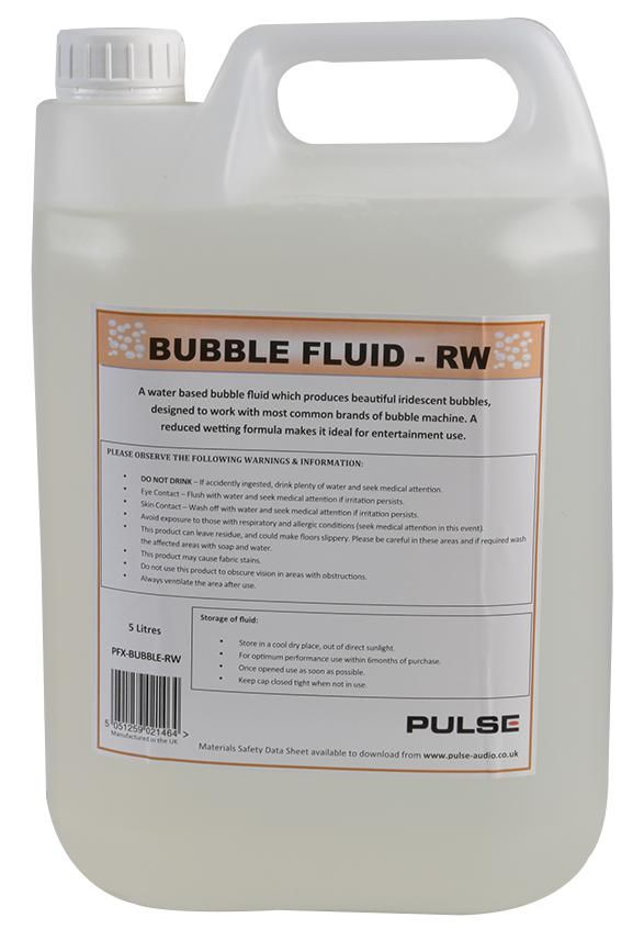 PULSE PFX-BUBBLE-RW  Bubble Fluid Reduced Wetting 5Ltr