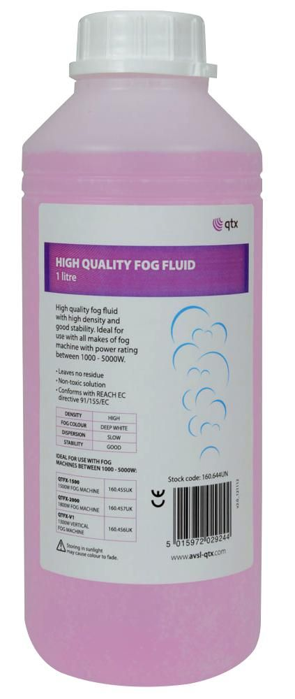 QTX 160.644UK  Fog Fluid High Quality 1L Pi
