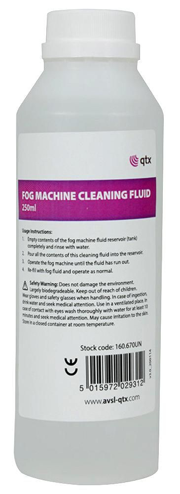 QTX 160.670UK  Fog Machine Cleaner 250 Ml