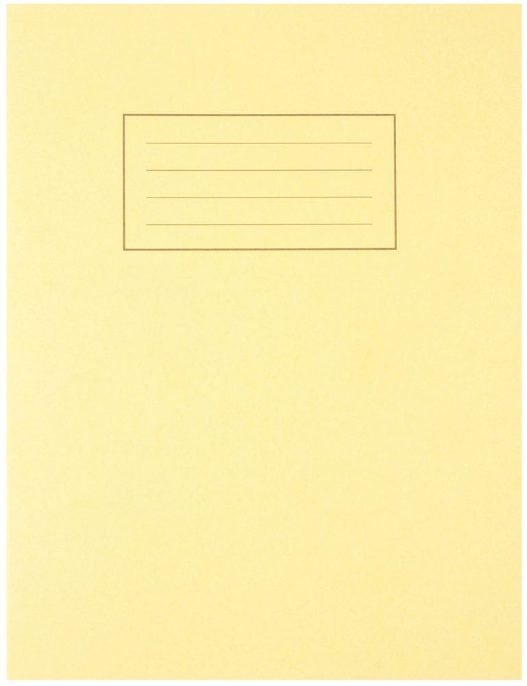 SILVINE EX103  Exercise Book 229X178Mm Yellow
