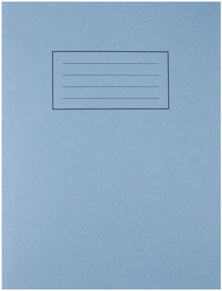 SILVINE EX104  Exercise Book 229X178Mm Blue