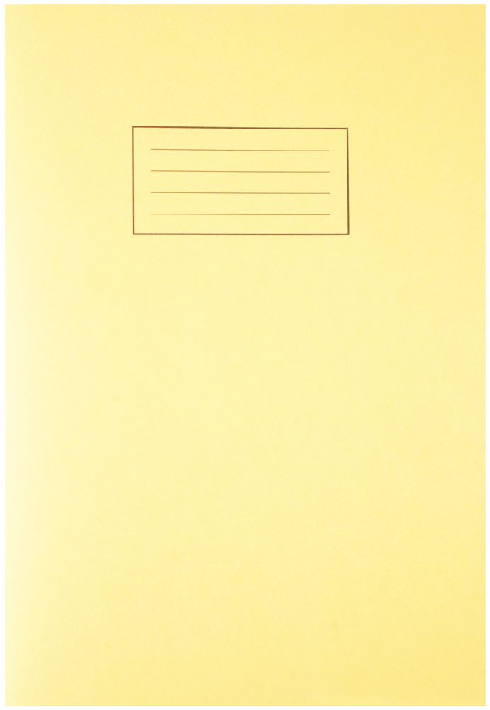 SILVINE EX109  A4 Exercise Book 80 Pages Yellow