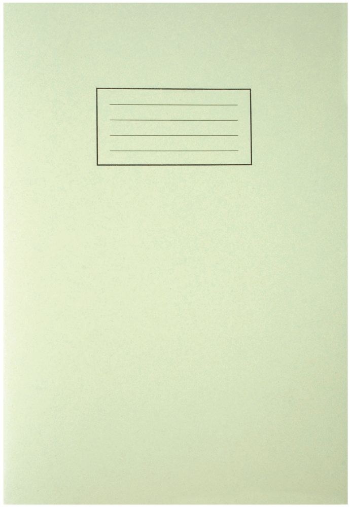 SILVINE EX110  A4 Exercise Book 80 Pages Green