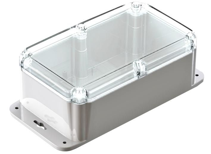 CAMDENBOSS CHD7212GY  Enclosure Wall Mount Ip66 Clr Lid