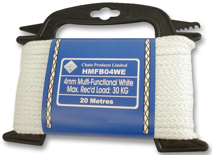 UNBRANDED HMFB03WE  Brd Poly Rope 3Mm White 30M