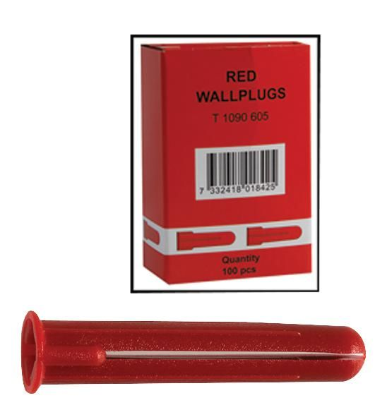 SCHNEIDER ELECTRIC 1090720 RED  Wall Plugs Tpa 2 Red Pk100