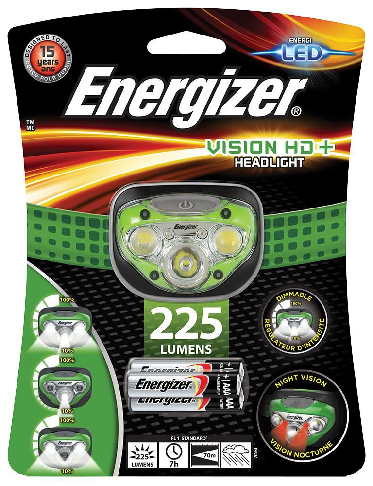 ENERGIZER HDC321  Headlight Inc 3X 3Aaa 225 Lm Led