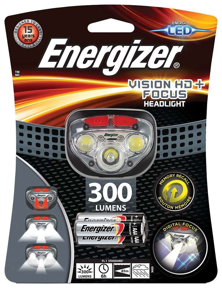 ENERGIZER HDD321  Headlight + Focus Inc 3X Aaa 300 Lm Led