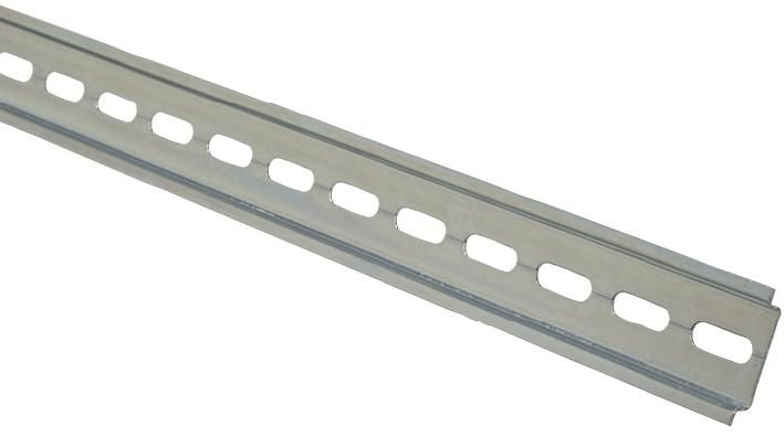 EUROPA COMPONENTS STBDR1M  Din Rail Slotted Top Hat 35X7.5Mm 1M