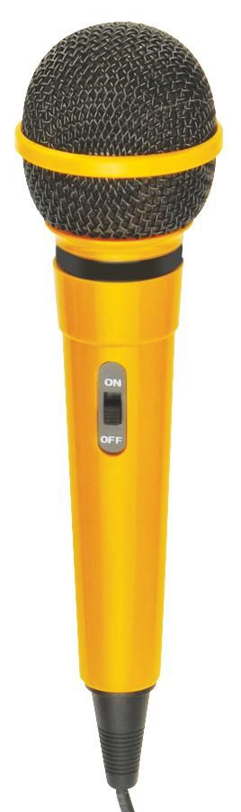 MR ENTERTAINER G156DY  Microphone Plastic Body Yellow