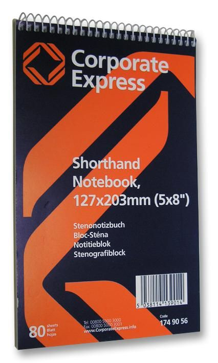 UNBRANDED 1749056 (10 PADS)  Shorthand Notepad (80 Sheet) 10 Pads