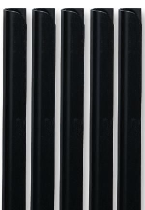 DURABLE OFFICE PRODUCTS 2933/01  Spine Bar 6Mm A4 Blk Box10