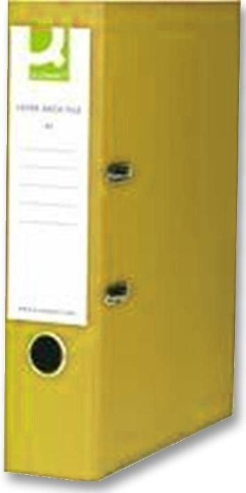 Q CONNECT KF01470  Lever Arch File A4 Yellow (Pk10)