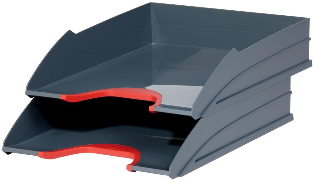 DURABLE OFFICE PRODUCTS 770203  Varicolor Letter Tray Set 2Pk Red