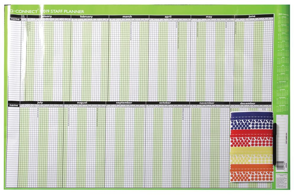 Q CONNECT KFSPU19  2019 Staff Planner 5 Day Week Unmounted