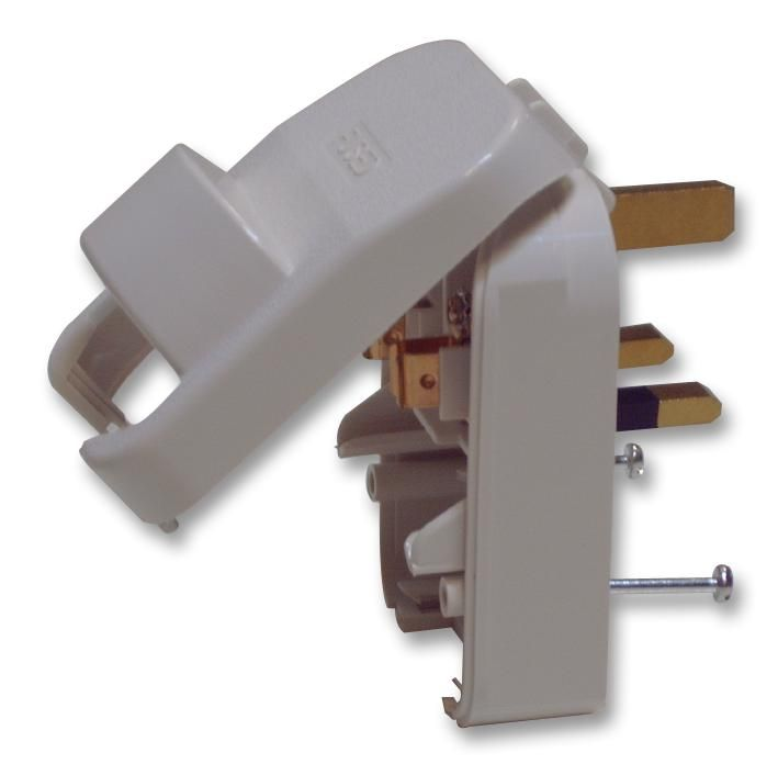 POWERCONNECTIONS SCP3.WHITE.13A  Schuko To Uk Plug White/13A