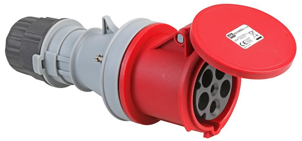 MK K9170RED  Connector 415V 63A 3P+N+E Ip44 Red