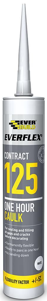 EVERBUILD 125C4  Sealant 1 Hour Caulk White C4